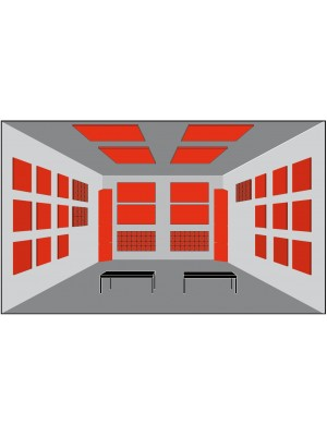 Basotect® Akustika - pre izbu > 25 m2
