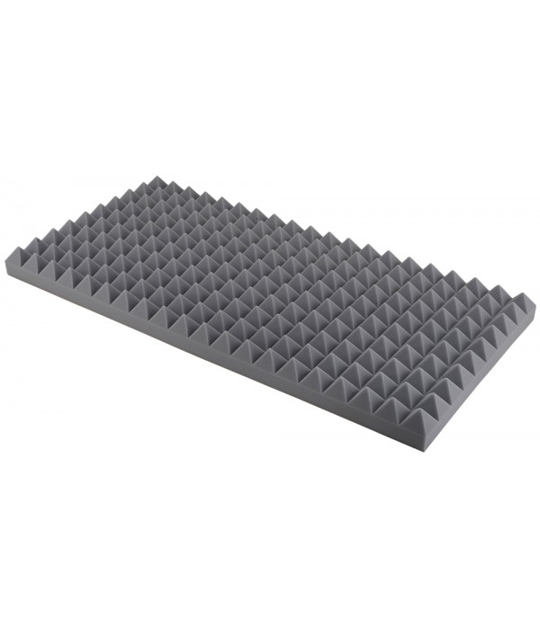 10 cm Sivá Akustická pena Basotect ® Pyramídová MH