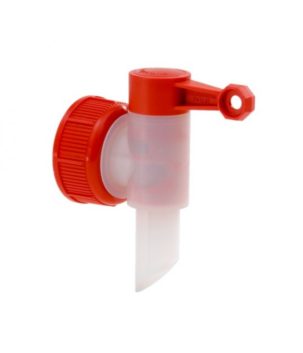 Vypúšťací ventil na kanistre 45 červený