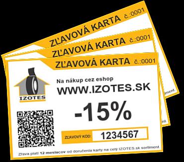Zľavová karta IZOTES.sk